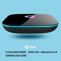 Wholesale Hdmi Lan - Android 6.0 Q Box TV BOX 2GB 8GB Gigabit LAN WiFi Bluetooth 4.0 S905x Android boxes