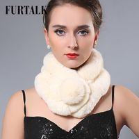 Wholesale Skin Rex Rabbit Fur - Wholesale- Women Whole set rabbit skin Rex rabbit fur scarf