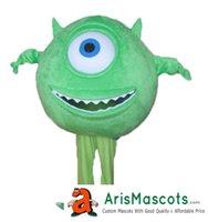 Wholesale Mike Wazowski Mascot Costume - Mike Wazowski mascot suit cartoon character mascots fancy dress costume kids carnival party dress