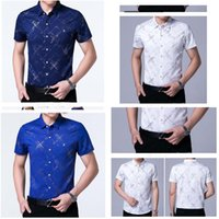 Wholesale Shirts Shorts Sleeves - Men's Shirt Personalized Short Sleeve Shirt Men's Summer Dress Free Half Sleeve Men's Shirt