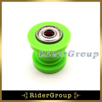 Atacado- Green Pulley Tensioner Chain 8mm Roller Guide para CRF50 XR50 KLX110 SSR Thumpstar Atomik Chinês Pit Dirt Bike Motocicleta