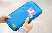 Wholesale Zip Travel Wallet - 2017 Portable Full Closure Zipper Travel Organiser Passport Holder Wallet Full Closure Zip Document Bag Travel passport Wallet