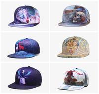 833135160e2 New 3D printing deer caps pattern sports hats baseball cap women men caps  fitted snap fashion hip hop caps 33 styles