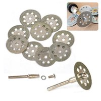 Wholesale rotary tool dremel - 10x 20mm diamond cutting discs tool for cutting stone cut disc abrasives cutting dremel rotary tool accessories dremel cutter
