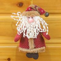 muñecas de santa nieve de navidad al por mayor-Moda Nueva caricatura Nuevo Papá Noel Muñeco de nieve Muñeca Decoraciones de Navidad Árbol de Navidad Gadgets Adornos Muñeca Regalo de Navidad