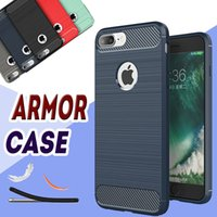 case experience - Rugged Armor Hybrid Carbon Fiber Shockproof The Ultimate Experience Anti Shock Hard Cover Case For iPhone Plus S S Samsung S8 Note