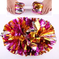 150G / Pc 12Pcs / Lot Cheerleading Pom Compétition sportive Poms Flower Ball Jeux Party Show Dance Main fleurs Pompons Cheerleading