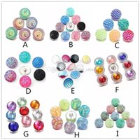 Wholesale nosa snap buttons for sale - Group buy 18mm Noosa Nosa Chunks Interchangeable Snap Button Charm Bracelet Necklace Jewelry Accessories Acrylic Ginger Snap Jewelry N00