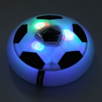 Wholesale hot toys soccer online - Hot Funny LED Light Flashing Ball Toys Air Power Soccer Disc Gliding Floating Football Game Indoor Toy Kids Chidren Gift Toys