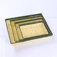 Wholesale Craft Books Wholesalers - manual plastic woven basket rattan book square basket of vegetables and fruit food plastic basket crafts storage Box