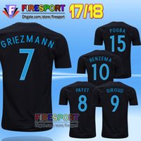 Wholesale National Wine - 2017 2018 France national Third Black Soccer Jersey maillot De foot GRIEZMANN POGBA Giroud Mexico AAA+ 17 18 top quality Football shirts