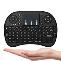 ingrosso giochi android-Mini tastiera wireless Rii i8 2.4GHz Air Mouse tastiera telecomando Touchpad per Android Box TV 3D gioco Tablet Pc