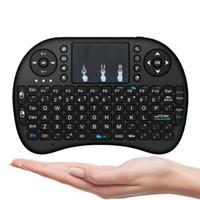 android 3d mouse оптовых-Мини беспроводная клавиатура Rii i8 2.4 ГГц Air Mouse Keyboard пульт дистанционного управления тачпад для Android Box TV 3D игры планшетный ПК