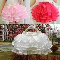 Wholesale Girls Fluffy Pettiskirts Tutu - 2015 summer girls skirt ball gown princess fluffy pettiskirts baby tulle layered tutu short skirts party clothes dancing mimi skirts