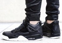 Wholesale Horse Body - Air Retro 4 IV mens Basketball Shoes, Premium Black Premium Dark Horse retro 4s shoes high quality sports shoes sneakers size 41-47