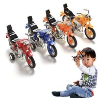Wholesale Toys For Chinese Children - Mini Motorcycle Vehicle Toys Gifts for Children Pull Back Motor Model Chinese kung fu shop (Color: Multicolor)