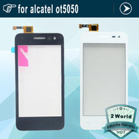 Wholesale- Digitizer à écran tactile pour Alcatel One Touch Pop S3 OT5050 OT- 5050 5050x 5050Y Touch Panel Sensor à écran tactile de verre avant