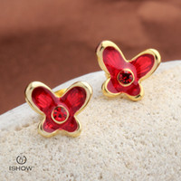 Wholesale Cheapest Fashion Jewelry Wholesale - Cheapest designer gold plated earring butterfly style stud earrings gift for girlfriend new fashion facncy jewelry wholesales