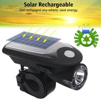 Wholesale Solar Energy Bike - LED USB Rechargeable Bike Light Headlight Solar Energy Bicycle Front Light Waterproof with 360 Degree Rotating Mount ALS