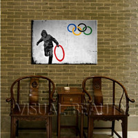 Wholesale framed art ideas - Framed Pure Handpainted Graffiti Art oil painting New Idea BANSKY, Home Wall Art Decro On High Quality Thick Canvas Multi sizes