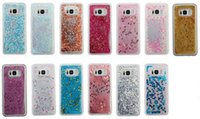 Corazón Love Quicksand Liquid TPU Funda para Galaxy S8, S8 PLus Silicona Floating Glitter Sparkle Bling Cover Moda 3D Moving Clear Piel