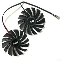 Wholesale Msi Cooler - Wholesale- 2pcs lot computer radiator cooler GPU Cooling fans For MSI R9 380 390 390X GAMING video Graphics Card GPU
