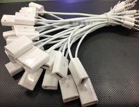 hdmi schnüre männlich weiblich großhandel-3,5 mm Stecker AUX Audio Stecker Jack auf USB 2.0 Buchse Kabel Kabel Auto MP3