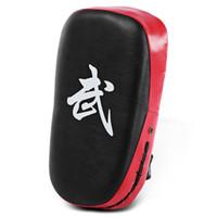 taekwondo sparring zahnrad großhandel-Platz Taekwondo Boxing Pad Boxsack Karate Sparring Muay Thai TKD Trainingsfuß Target Gear PU Leder Oberfläche Schaum 5 Farben + B