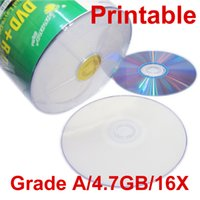Wholesale Printable Cds - Grade A 4.7GB 16X DVD R Printable Blank Record DVD Disc DVD-R CD Burning for VCR Camera Video High quality DHL Free Fast Shipping