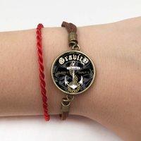 christliche kreuz armbänder großhandel-Vintage Kreuz Armband Jesus Schmuck Wildleder Lederarmbänder Blume Christian Armbänder Armreifen Armbänder pulseira feminina