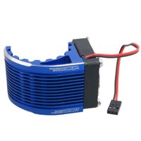 Wholesale electric motor for fan - RC HSP Navy 42mm Alum Heat Sink DC5V Fan Cooling For Engine Motor 4274 4268 1515