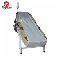 Wholesale Iron Table Frames - BYRIVER 2017 Korea Good Quality Fashion Design Electric Iron Frame Full Body Therapy Jade Stone Massage Bed Table Massager