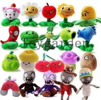 ingrosso bambole giocattolo zombie-Lotto 20 Pz / Set Piante VS Zombies Morbidi Peluche Bambole Giocattolo Per Bambini Regalo 10-20 CM