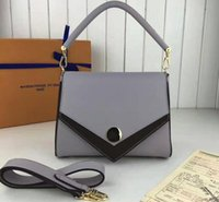 Wholesale Double Slots - Women Double V M48816 100% Grained Real Leather V-Shape Flap come with dust bag+Box Free Shipping