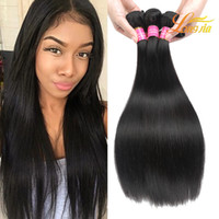 Wholesale prices straight hair weave resale online - 8A Price Peruvian Straight Hair Human Hair Bundles quot quot Double Weft Straight Virgin Hair Weaving Weave