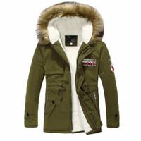 Wholesale Style Men Jacket Fur - Wholesale- 2017 Winter New Style Warm Men's Jacket Parka Thick Warm Fur Collar Long Cotton Jacket Men Comfortable Cotton Hooded Parka Men