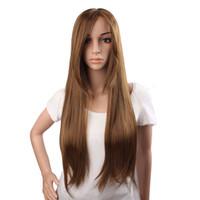 insan saçı perukları kısa açık kahverengi toptan satış-TAM DANTEL PERUK Işık kahverengi Brezilyalı Virgin İnsan Saç 100% Kısa Bob Kıvırcık Tam Dantel İnsan Saç Peruk Renk 8 # YAKI DÜZ Bebek Saç KABELL