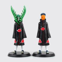 Wholesale Naruto Akatsuki Figures - New hot sale 2pcs set anime figure PVC toys Naruto Akatsuki zetsu uchiha madara 19CM Collectible Kids Toys Gifts