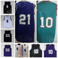 Wholesale Orange Dry Top - Top 55 Jason Williams Throwback Jerseys Basketball 4 Chirs Webber 10 Mike Bibby 21 Vlade Divac Black White Purple Quality with player name