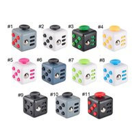 Wholesale Plastic Retail Package Color - 11 color Newest Fidget cube dull polish best quatity with gift package the first American decompression anxiety Toys black case