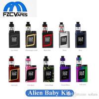 Wholesale Ecig Boxes - Authentic SMOK Alien Baby Kit AL85 Starter Kit 10 New Colors Compact Size E Cigarette Starter Kit ECig Vape 85w Box Mod