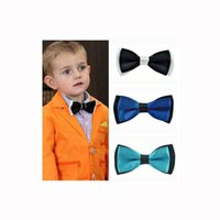 Wholesale Little Butterfly Fashion - Wholesale- Fashion Kids Bow Tie Little Gentleman Shirt Neck Tie New Year Gift Adjustable men's Butterfly Tie For Wedding Night School Party