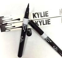 Wholesale Eyeliner Colors Waterproof - Hot Kylie Jenner Black Brown Liquid Eyeliner Long-lasting Waterproof Eye Liner Pencil Pen Nice Makeup Cosmetic Tools Kylie