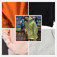 Wholesale Hoodie Mens Logo - Chic letter embroidery Sweatshirt Black Hip Hop Street 2017 Brand street box logo skateboard Hoodies Mens sup coulpe casual Hoodie clothing