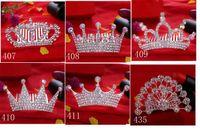 haare tuck kamm großhandel-KIDS Crown Princess Kämme Mini Twinkle Strass Diamante Brautprinzessin Crown Haarkamm Haarspange Tuck Tiara Party Hochzeit XT