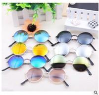 Wholesale Cheap Sunglasses For Kids - Cheap Reflective Round Kids Sunglasses Children Sunglass Mirror Lens Sun Glasses For Boys Girls Rimless Shades UV400