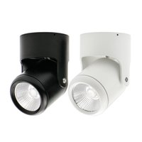 Venta al por mayor-COB 7W 10W 15W 20W LED Downlights superficie montada Downlight techo Spot luz ajustable + AC110 / 220V conductor