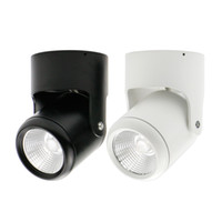 Wholesale Adjustable Ceiling Light - Wholesale- COB 7W 10W 15W 20W LED Downlights Surface Mounted Downlight Ceiling Spot light Angle-adjustable+ AC110 220V Driver