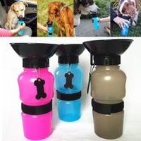 Wholesale Newest Auto Dog Mug Puppy Cups Travel Walking Hiking Water Bottle Dispenser Feeder Dog Cat Drinking Bottle Color Have in Stock WX G04