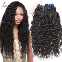 Wet and Wavy Virgin Brazilian Hair 3 Bundles Brazilian Water Wave Cheveux humains Cheveux non traités Tisser le Brésilien Curly Weave Natural Black 1b